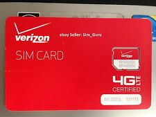 For Verizon Wireless 4G LTE Micro SIM card for Samsung Galaxy s3, s4, iPhone 4S