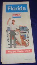 BS625 Exxon Oil Co. Florida Road Map 1973