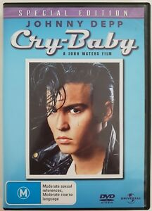 Cry-Baby DVD. Region 2, 4, 5 PAL. Johnny Depp. Free postage!