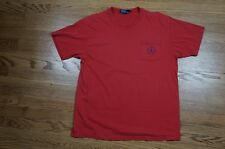 Rare Vintage POLO RALPH LAUREN Spell Out Pony Logo Pocket Tee T Shirt 90s Red L