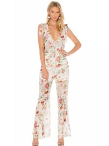NEW $350 Free People We Are Kindred Field Bouquet Jumpsuit Size 2