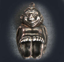 RARE EARLY BILLIKEN LUCKY STERLING SILVER CHARM - 1909