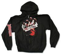 Judas Priest British Steel Black Zip Hoodie Sweatshirt New Official