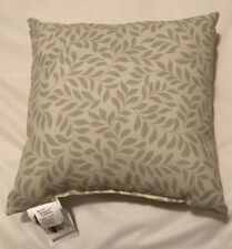 "Better Homes & Gardens Throw Pillows 16"" Square, Tonal Leaves, Beige, 2 & New!"