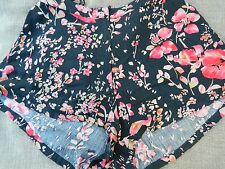 SOMEDAYS LOVIN SHORTS FLORAL Retro 70s BOHEMIAN BLACK FLOATY SHORTS Sz XS