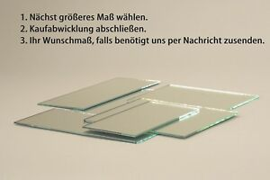 Spiegel auf Maß Zuschnitt Wandspiegel nach Maß 3+4+6 mm Wunschmaß Spiegelfliese