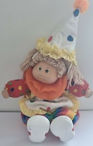 Vintage Cabbage Patch Clown Doll - 1980s