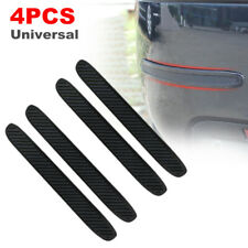 4Pcs Car Carbon Fiber Bumper Corner Rubber Strip Anti-Scratch Protector Guard