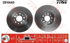 TRW Juego de 2 discos freno Trasero 276mm ALFA ROMEO 147 156 GT DF4440