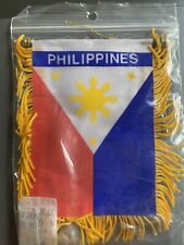 Philippines Mini Banner Flag Great For Car & Home Window Mirror Hanging 2 Side