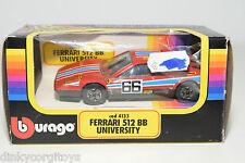 BBURAGO BURAGO 4133 FERRARI 512BB UNIVERSITY RALLY MINT BOXED