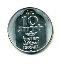 10 Lirot Israel 1974 Hanukka 5735 Silber M_773