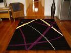 Black Purple Large Modern Floor Rug Carpet 290 x 200 FREE DELIVERY 620434