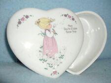 "Precious Moments ""Mom You're A Wish Come True"" Heart-Shaped Trinket Box 1994 >>"