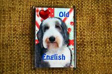 Old English Sheepdog Gift Dog Fridge Magnet 77x51mm Birthday Gift