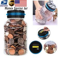 Electronic Digital Lcd Us Coin Counter Counting Jar Money Saving Piggy Bank Box