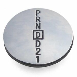 PRNDD21 Shift Knob Medallion Insert -- For Metal Knob