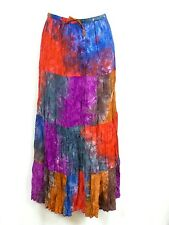 Tie Dye Skirt Patchwork Long One Size Hippie Casual Summer Festival Handmade