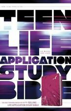 Teen Life Application Study Bible-NLT Pink Fields Edition. LeatherLike Tyndale