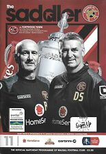 Football Programme>WALSALL v FLEETWOOD TOWN Nov 2015 FAC