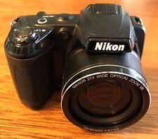 Nikon Coolpix L310 Digital Camera 21X WIDE Zoom 14.1 MP Black Tested