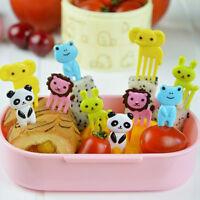 10pcs Bento Kawaii Animal Fruit Picks Food Forks Lunch Box Accessory Decor Tool