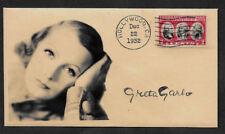 Greta Garbo Collector Envelope Original Period 1930s Stamp OP1187