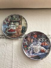 """Bradford Exchange beautifully illustrated collector """"cat"""" plates"""
