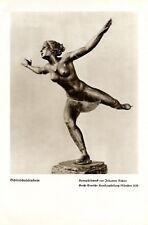 Schlittschuhläuferin Kunstdruck 1939 Joh. Richter Eistanzen weiblicher Akt