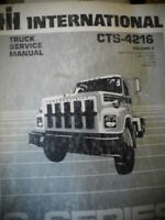 1983 International CTS-4216 Engine V2 Truck Service Manual Diagrams S Series