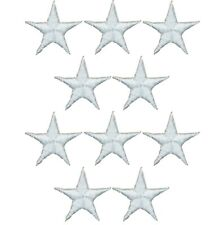 """star Iron On Star Appliques 2/"""" size white star patches 25 stars 25 piece lot"""