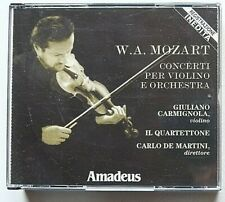 Mozart Concerti per violino e orchestra 2 cd cofanetto Carmignola + booklet