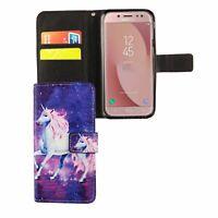 Schutz Hülle für Handy Samsung Galaxy J5 2017 Einhorn Magic Tasche Case Wallet