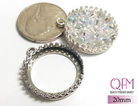 2 pcs Round Bezel Cup 20mm JBB Sterling Silver 925 - Jewelry Bases, Settings