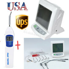 【USA】 Dental Apex Locator Root Canal Finder + PULP TESTER Testing teeth Nerve CE