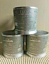 Vintage Russian Soviet podstakannik Leningrad tea glass holder Aluminum USSR