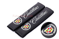 2x Car Auto Seat Safety Belt Pad Cover Shoulder Strap Cushion Logo For Cadillac