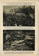 Parade Soldats Armée Belgique Bataille de l'Yprès Merckem Langemarck 1918 WWI