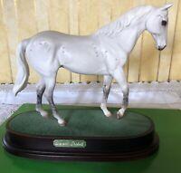ROYAL DOULTON HORSE DESERT ORCHID  RACEHORSE DAPPLE GREY MODEL No. DA 184 VGC