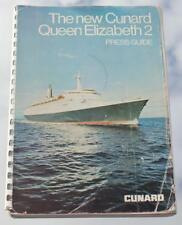 CUNARD LINE RMS QUEEN ELIZABETH 2 QE2 OFFICIAL PRESS GUIDE 1969 ENGINEERS COPY