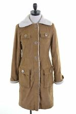 AMERICAN EAGLE Womens Corduroy Sherpa Coat Size 6 XS Brown Cotton  FG03