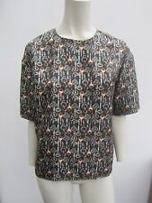 New Dolce & Gabbana Key Print Silk Top - Size 38 Italy