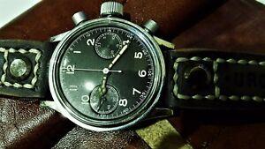 TUTIMA UROFA  Flyback  cal. 59  anni '45  Militare dial black.