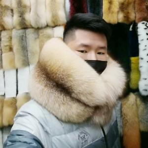 Men' Luxurious Fur Scarf 100% Real Raccoon Fur Collar wrap With Silver Fox Fur