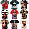 Women/Men Rapper 2pac Hip Hop Tupac Shakur Funny 3D Print Casual T-Shirt Tee 5XL