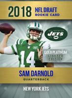 SAM DARNOLD 2018 NFL DRAFT GOLD PLATINUM ROOKIE CARD ONLY 2,000 MADE NY JETS!