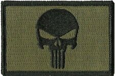Iron on Olive Punisher  Military Tactical Airsoft Morale Operator  Patch