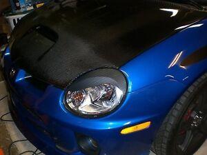 Dodge Neon CARBON FIBER pre-cut S-Curve EYELID Headlight Overlays - SRT4 R/T SXT