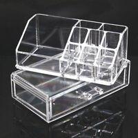 Acrylique Boîte Présentoir Support Rangement Cosmétique Maquillage Organisateur