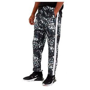 Nike Mens Pants Black Size XL Sport Camo Print Striped Leg Stretch $80 469